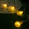 1X Cute Led String Light Bulb Shape Led Fairy String Lights Party/Wedding light Warm White 3M 20Bulbs Led Light String with Plug