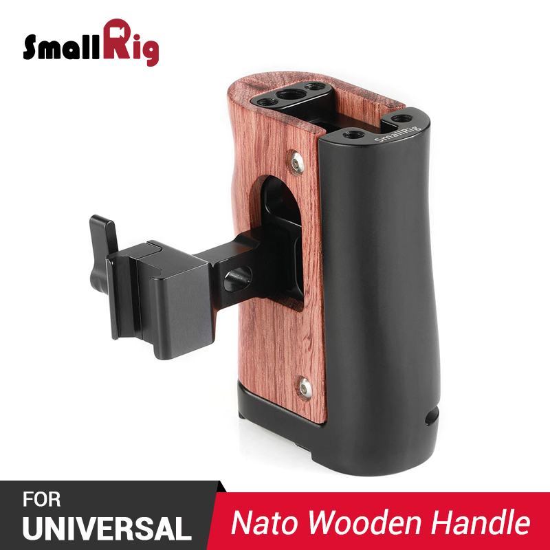 SmallRig DSLR Camera Handle Quick Release NATO Handle for Samsung T5 SSD For BMPCC 4K Cage 2254 2203 Camera Side Grip HSN2270 in Tripod Monopods from Consumer Electronics