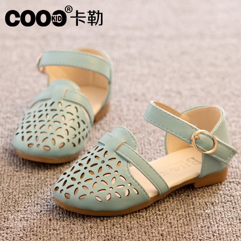 5eb36d6c97d5c Stock children s shoes girls hot sale 2018 spring korean fashion girls  sandals princess cut outs child slipper lovely loafer-in Sandals from Mother    Kids ...