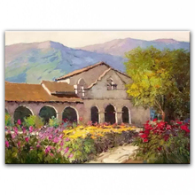 100% hand painted oil painting Home decoration high quality landscape knife painting pictures     DM16072110