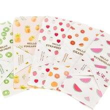 5pcs/lot Fruit Pie Multifuction Mini Paper Envelopes Office School Wedding Party Invitation Gift Supplies Party Favor 90x195mm pie school