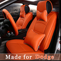 Кожа Автокресло Обложка для Dodge Viper JCUV Caliber Мститель зарядное Дуранго Nitro Ram Truck 5 Подушки Сиденья Защиты Одеяло 4823