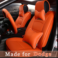 Leather Car Seat Cover For Dodge Viper JCUV Caliber Avenger Charger Durango Nitro Ram Truck 5