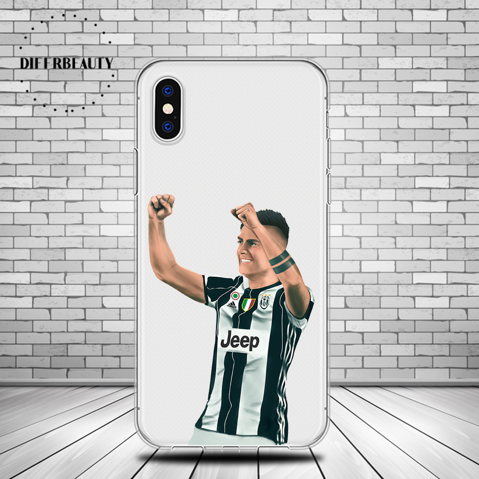 DIFFRBEAUTY Sport Famous Football Soccer Star Paulo Dybala Soft Silicone Phone Case Cover For iphone 6 6S 7 8Plus SE Coque pogba