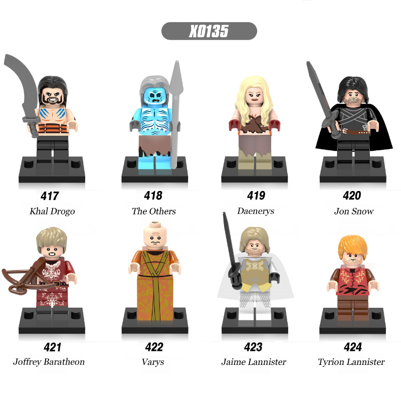 Super Heroes Game Of Thrones Jon Snow Lord Varys Khai Drogo The Others Daenerys Jaime Lannister Building Blocks Kids Toys