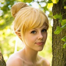 Tinker Bell High Quality Full Lace Cos Wig Princess Tinkerbell Girl's Bun Blonde Hair Straight Short Anime Cosplay Costume Wigs