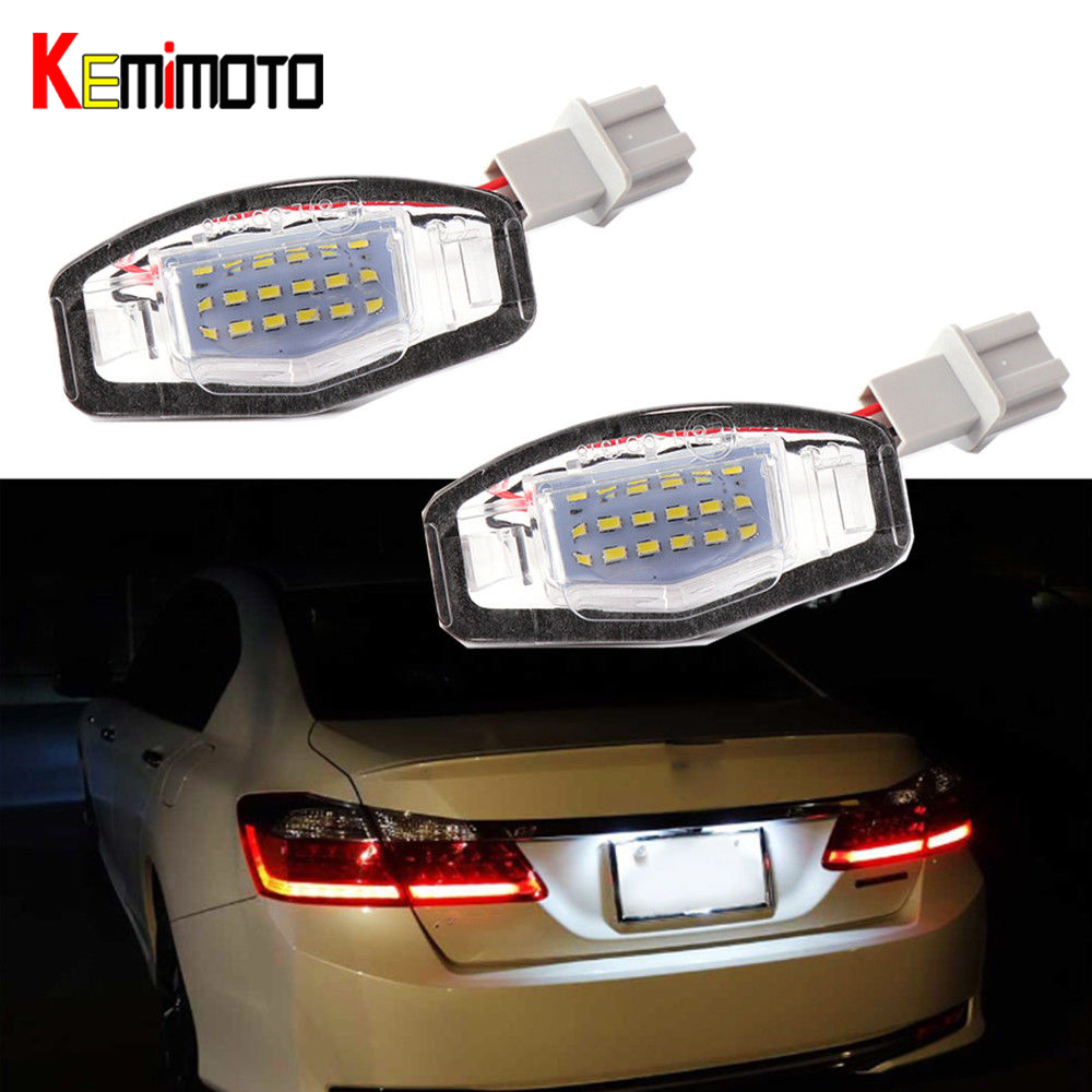 Cheap Acura Tl For Sale: Aliexpress.com : Buy KEMiMOTO 2x 18 LED License Plate