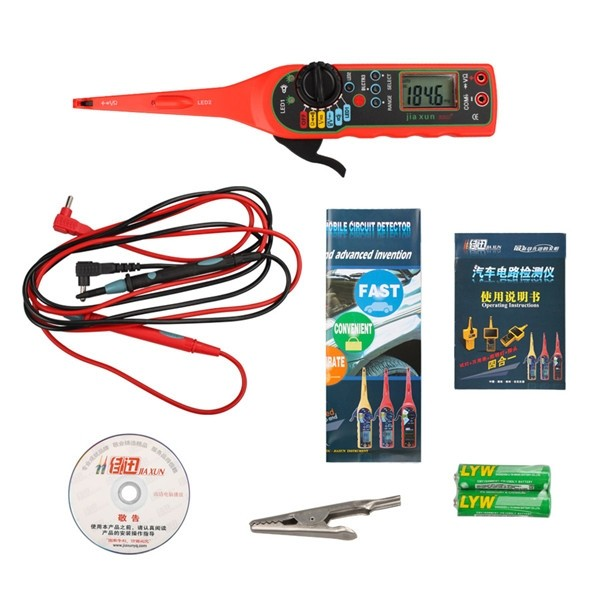 ФОТО Hot Sale! good price for (No damage test) auto circuit tester Line Electricity Detector and Lighting 3 in 1 automotive tool