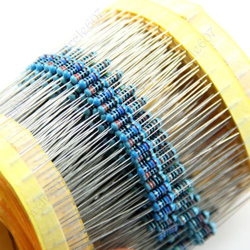 OOTDTY J34 2500pcs 50 Kinds 1 4W Resistance 1 Metal Film Resistor Assorted Kit New