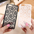 Para iphone 7 6 6 s plus palacio flor caja del teléfono dura delgada de la pc para iphone 7 plus 6 6 s más 5 5S 5se cubierta capa transparente Shell