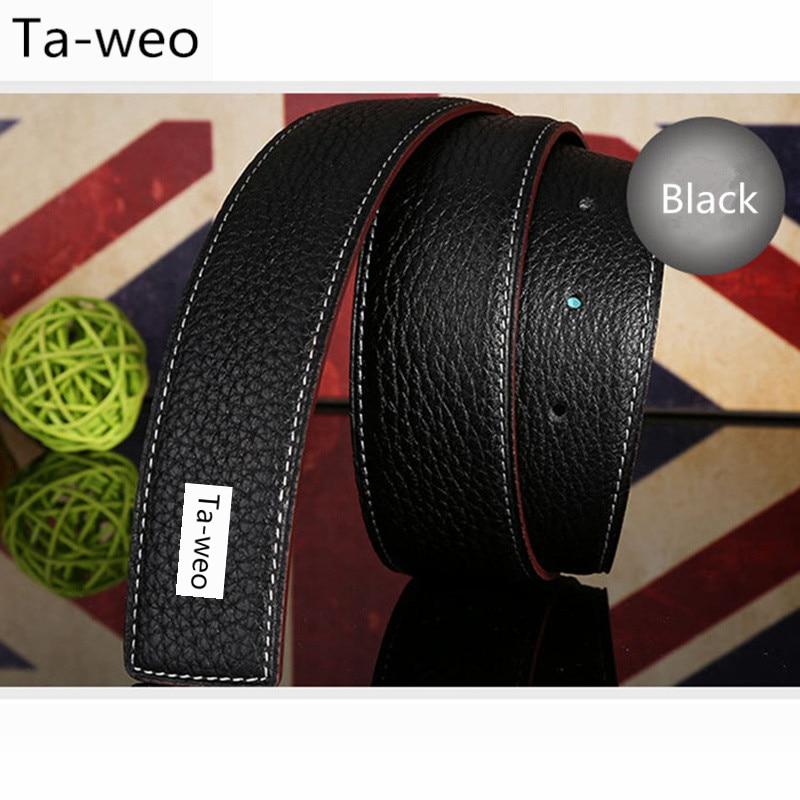 (Sin hebilla, solo cinturón) Cinturones de cuero genuino unisex de moda para mujeres Cinturones de diseño Hombres Cinturón de cuero de alta calidad de lujo