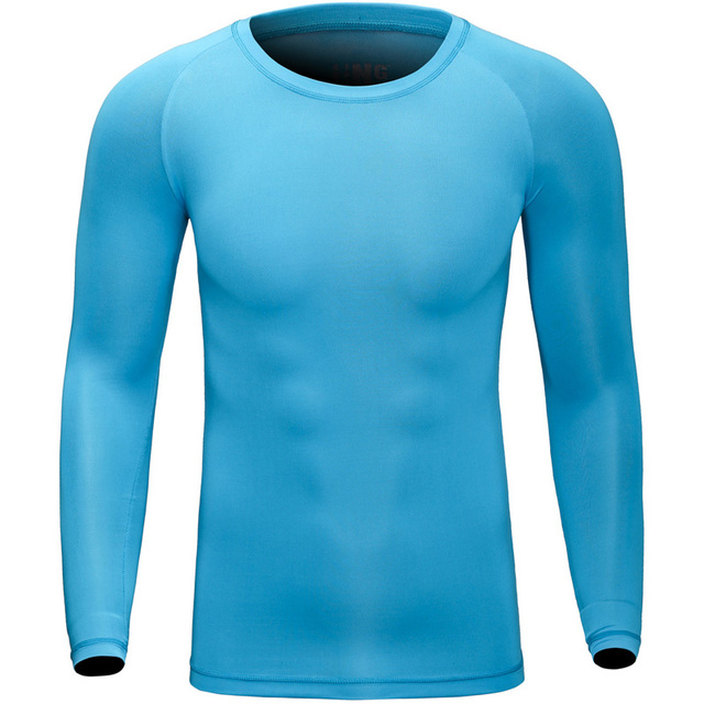 Brand male Long Sleeve Underwear Clothing open air Quick Drying Bottoming T Shirt Exercise Bodybuilding Compression Tights 004