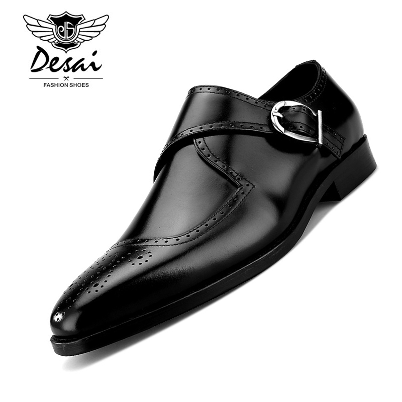 Mens Square Head Carved Mengke Shoes Genuine Leather British Style First Layer Leather Shoe Business Buckle Party Wedding ShoesMens Square Head Carved Mengke Shoes Genuine Leather British Style First Layer Leather Shoe Business Buckle Party Wedding Shoes
