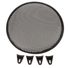 1 Pcs Speaker Grills Cover Case With 4Pcs Screws & Fix Bracket For 12 Inches Mounting Home Audio DIY Directly Fixed