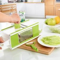 kitchen tools 4 Side Multifunctional Vegetable Slicers Cutter With Container Fruit Carrot Slicer Salad Maker Vegetable Tools