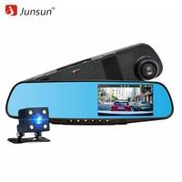 Junsun Car DVR Dual Lens Full HD 1080P Video Recorder Rearview Mirror With Rear View Mirror