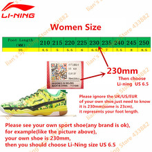 Li-Ning Lightweight Running Shoes for Women Breathable LiNing Ladies' Anti-Slip Sports Shoes Wearable Sneakers ARBN026 Z037