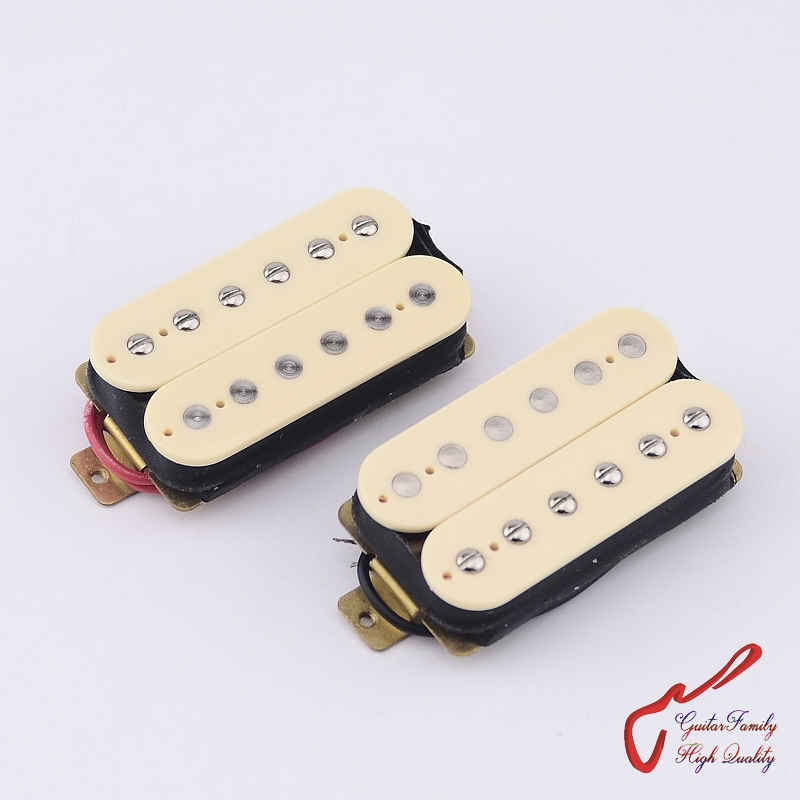 1 Set GuitarFamily Electric Guitar Alnico Open Humbucker Pickup   Low-end  Series  ( #0215 ) 1 set guitarfamily alnico pickup for casino jazz guitar nickel cover made in korea