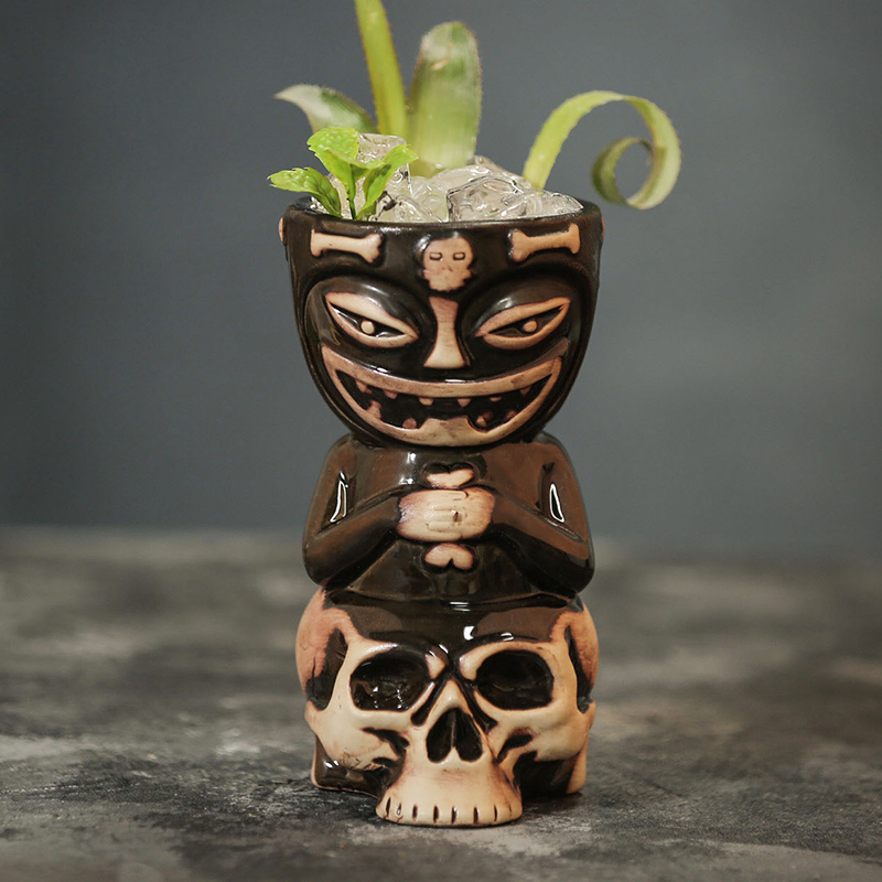 Skull Doll Tiki Mug Cocktail Cup Beer Wine Mug Ceramic Tiki Mugs Art Crafts Creative Hawaii Mugs