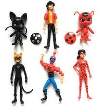 6 unids/set funko pop milagrosa ladybug girl figuras de acción del pvc modelo de juguete mariquita traje de niña de la muñeca del regalo del cabrito(China (Mainland))