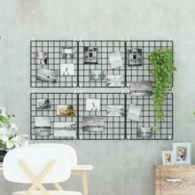 Kreativní železná zeď závěsná skladovací policová zeď Dekorační místnost fotka Pohlednice závěsný displej Home Obývací pokoj Skladové regály A-112