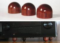 Hifi store NEW 4pcs D43mm*H63mm rosewood HIFI amplifier Shockproof spikes diy amplifier feet AQ