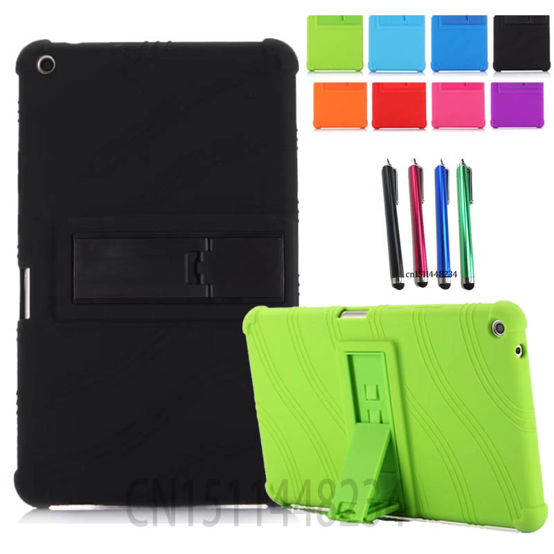 AORUIIKA Thickening Non-slip Shockproof Back cover Case for Huawei MediaPad T3 8.0 KOB-L09 KOB-W09 child Silicone case t3 8.0