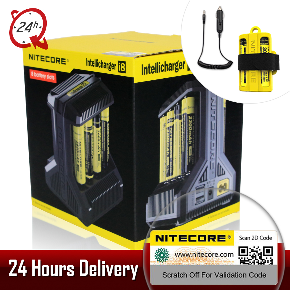 Hot Nitecore I8 Intelligent Charger 8 Slots Total 4A Output Smart Charger For 18650 16340 10440