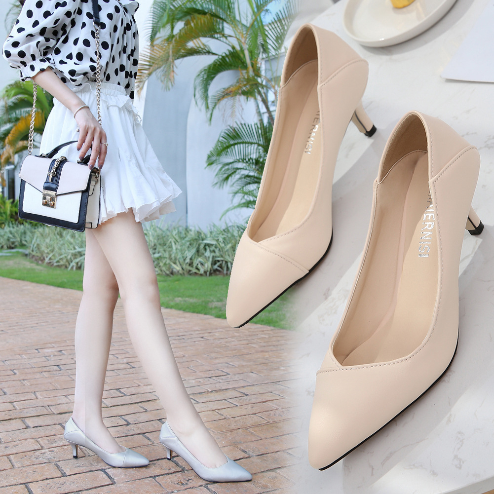 Image 2 - Plus Size 36 46 Women Shoes Pointed Toe Pumps Patent Pu Casual Shoes Kitten Heels Boat Shoes Wedding shoes  zapatos de mujerWomens Pumps   -