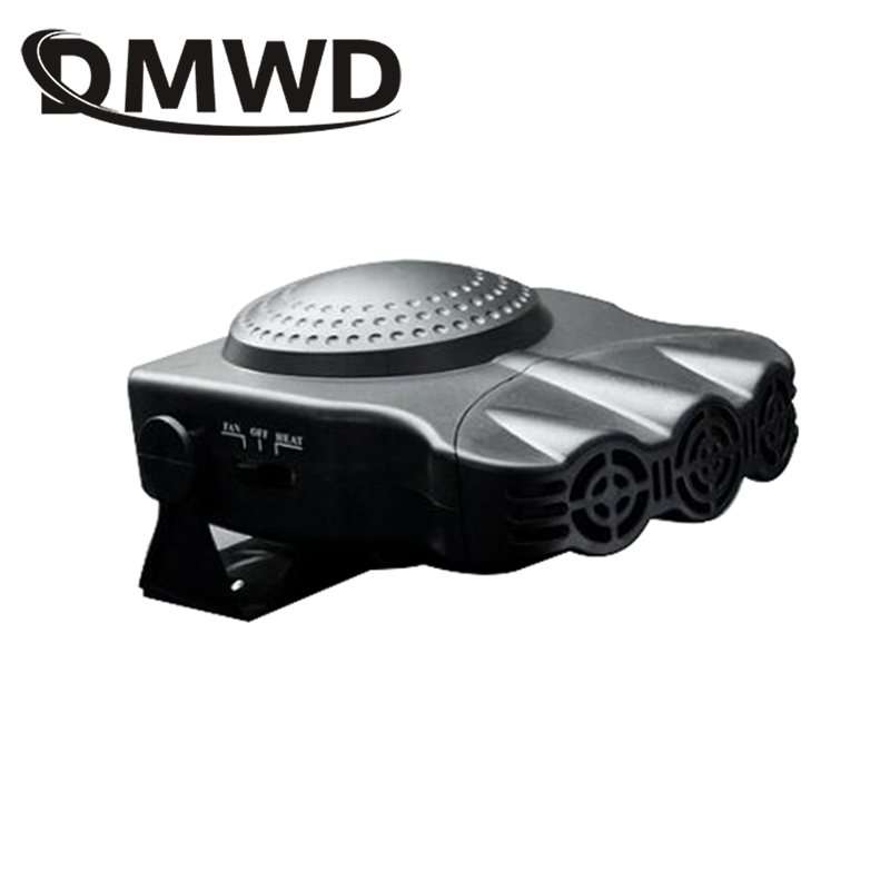 DMWD 12V Electric Car Use Heater Auto Vehicle Truck Heating Cooling Fan Hot Air Warmer Radiator Cooler Window Defroster Demister