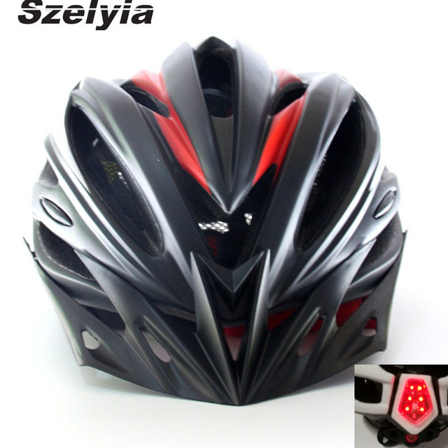 Szelyia Cycling Helmet With LED Light Bicycle 56 61CM L MTB Bike Casco