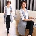 Longo Colete Mulheres Nova Primavera 2017 Moda Colete Feminino Sólida Colete Chalecos Mujer Outono Veste Femme Casual Coletes Jaqueta