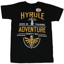 New Fashion Mens Short Sleeve Tshirt Cotton T Shirts Legend Of Zelda Mens T-shirt – 86 Hyrule Adventure Hero In Trainer