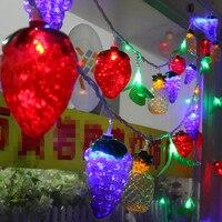Big Size Fruit Shape 10m LED String Ball Lights Curtain garland lamps Fairy wedding Garden Outdoor Christmas Holiday Lighting