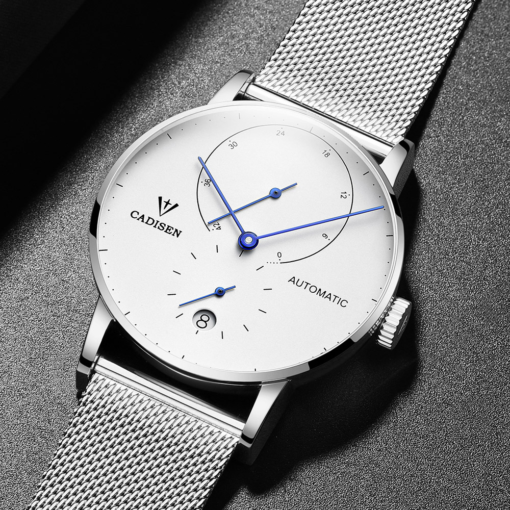 CADISEN Top Mens Watches Top Brand Luxury Automatic Mechanical Watch Men Full Steel Business Waterproof Fashion Sport Watches - 5