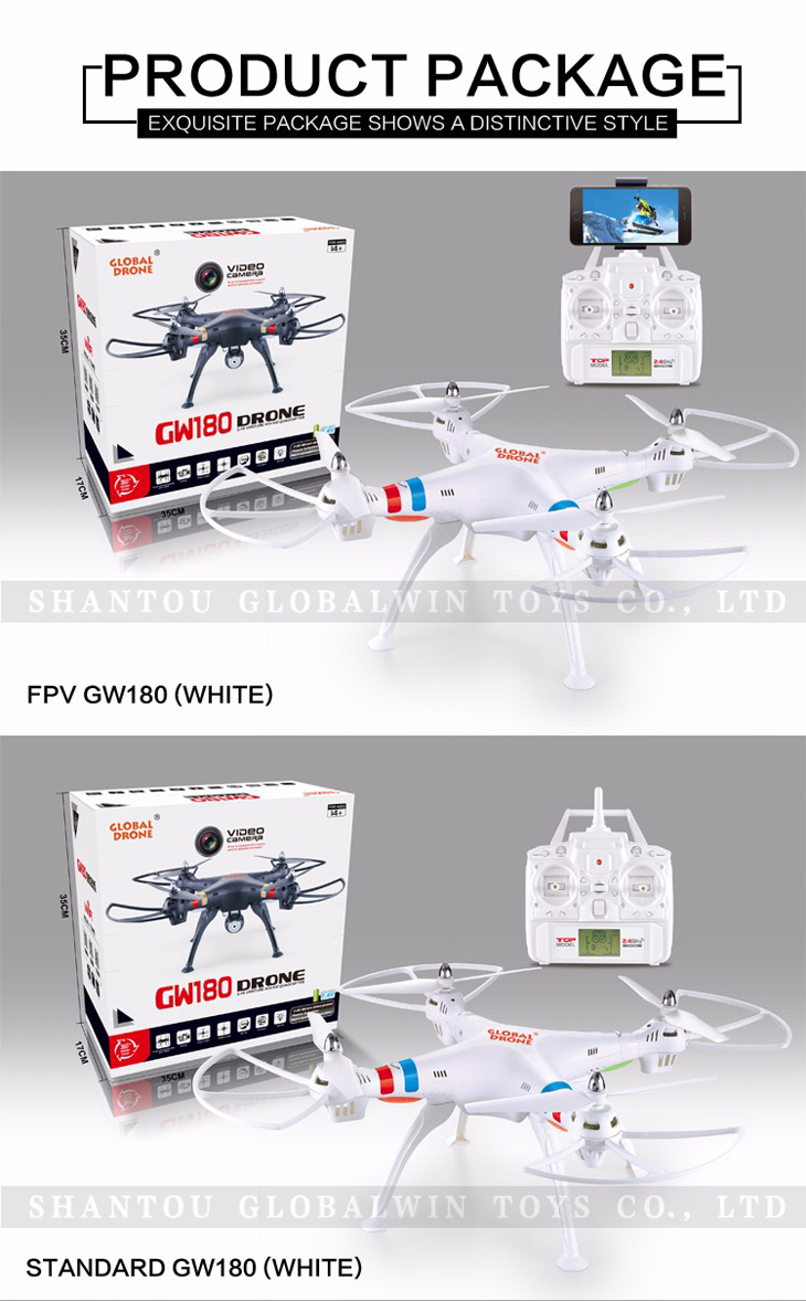 11Global Drone GW180 Dron with Camera WIFI HD FPV Hovering Quadrocopter Can Carry 4K Camera Drones