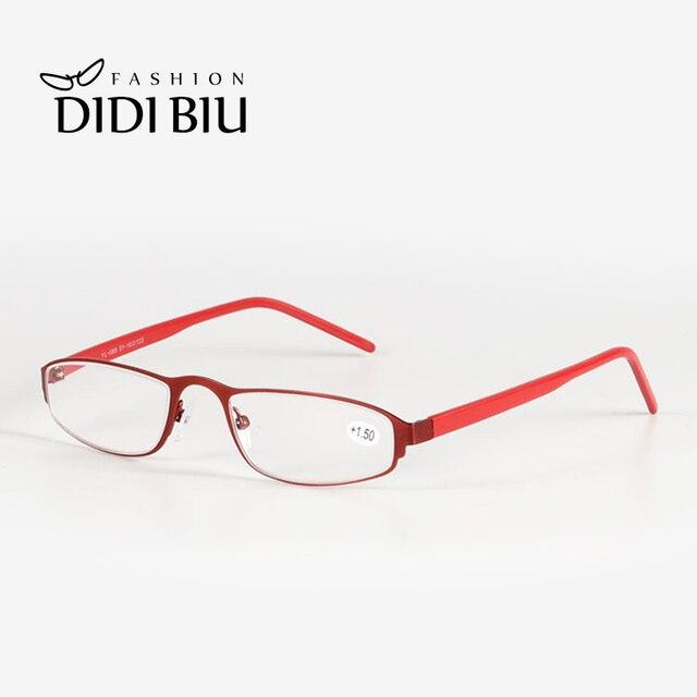 40ef5009e86 Red Reading Glasses Rectangle Mini Narrow Prescription Eyeglasses Optical  Myopia Presbyopic Glasses With Diopter 1.0 To 3.5 H857