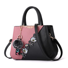 Female Stitching color Hand Bags for Women 2021 Flowers Crossbody Bags Embroidery Handbags Ladies Embroidered Shoulder Bag bolsa