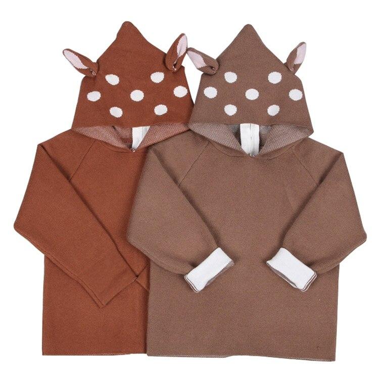 Cardigan Clothing Sweater Toddler Baby-Girls Boys Kids Cartoon New Dot Crochet Outwear