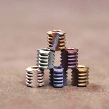 Titanium Alloy Paracord Beads E section (Triangle) Pendant Knife Beads EDC Outdoor Beads 1pc chinese dragon metal beads camping alloy for outdoor knife bracelet diy paracord accessories