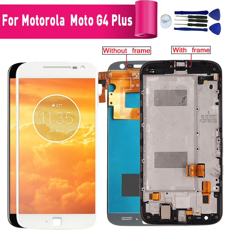 For Motorola Moto G4 Plus XT1644 1640 Display lcd Screen replacement for Motorola G4 Plus XT1641 1625 lcd display screen module image