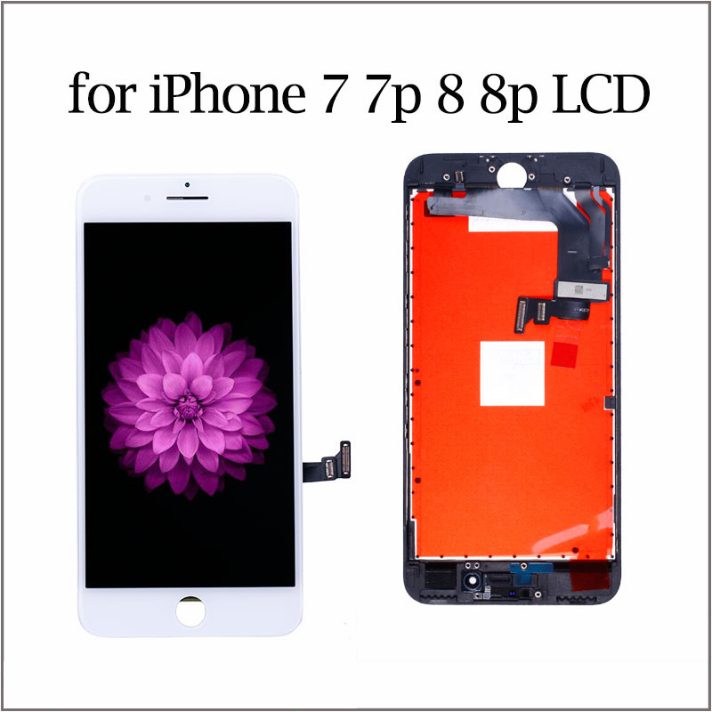 AAA++ Quality LCD For IPhone 7 Display Touch Digitizer Screen Assembly Replacement Module For IPhone 8plus Black And White Color