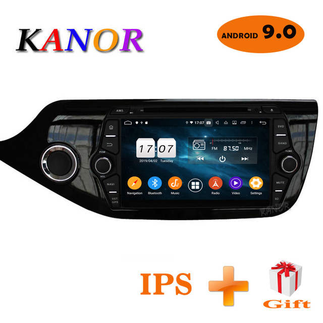 KANOR Android 9.0 IPS Octa core 4+32g Car Multimedia Player For KIA Ceed 2013 2014 2015 Audio Radio Headunit 2din Android Radio