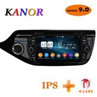 KANOR Android 9.0 IPS Octa core 4+32g Car Multimedia Player For KIA Ceed 2013 2014 2015 Audio Radio Headunit 2din Android Radio