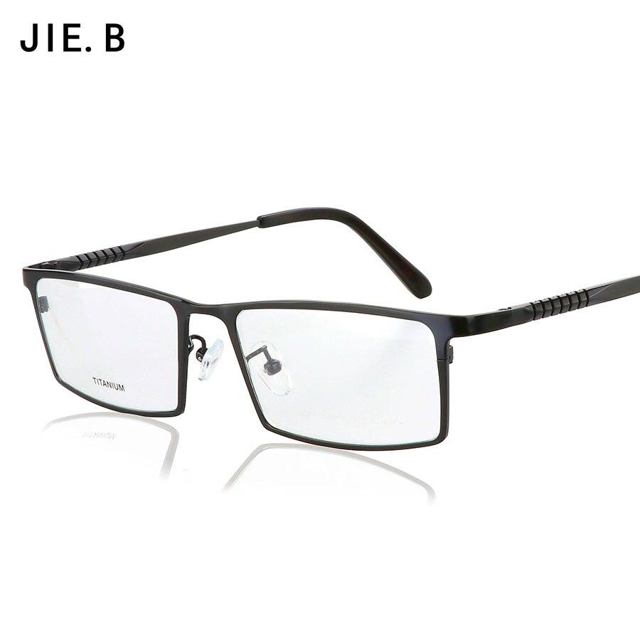Nové brýle Čisté titanové brýle Rámy Muži Optické brýle Rámové brýle Předpis Brýle pro firmy Muži Brýle