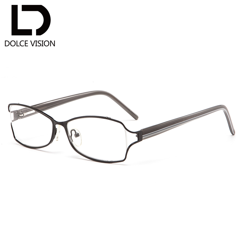 DOLCE VISION Metal Oval Women Diopter Glasses Prescription Photochromic Lenses Brand Design Graduated Glasses Spectacles 2018