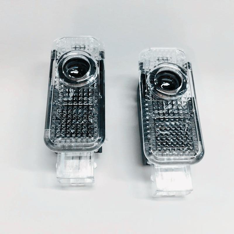 2x LED Car Door Logo Projector Light For A4 B8 B6 Avant B7 B5 B9 A3 8P 8V 8L Sedan A1 A5 A6 C5 A7 A8 R8 Q3 Q5 Q7 TT Accessories