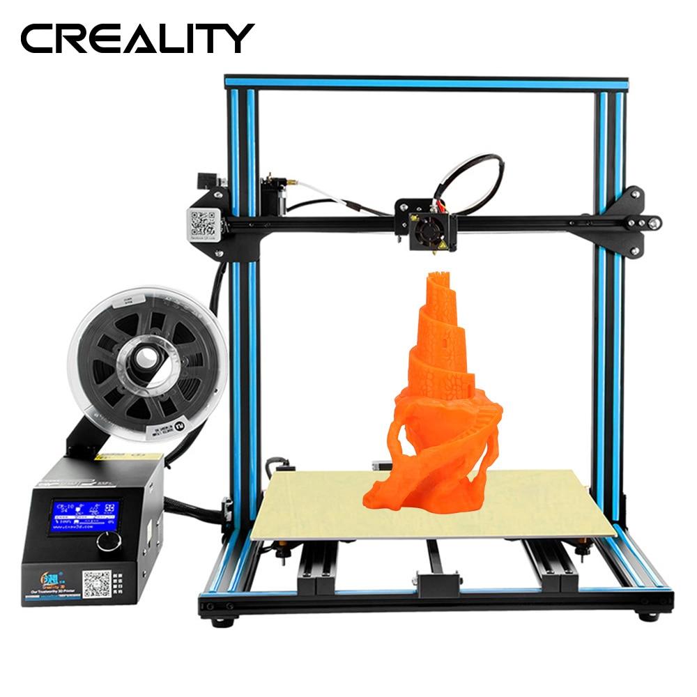 Grande Formato di Stampa CREALITY 3D Stampante CR-10 S4 Con Dua Z Asta Filamento Sensore di Rilevamento di Alimentazione Della Stampante di Riprendere Off