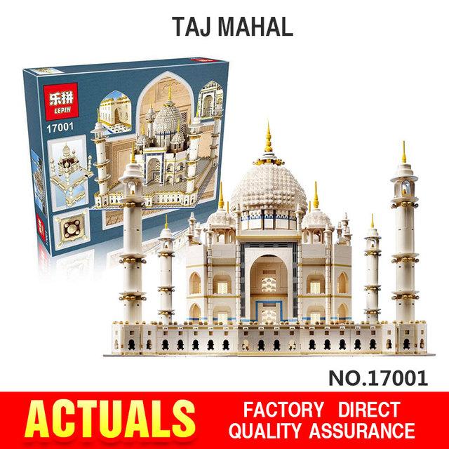 Nueva LEPIN 17001 5952 unids Tai Mahal Modelo Kits de Construcción de Ladrillo Juguetes Compatible 10189 Regalo