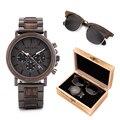 Мужские часы, солнцезащитные очки для женщин, BOBO BIRD, relogio masculino, в костюме, Подарочная коробка, наручные часы, мужские часы с секундомером, saat ...